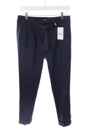 Burberry Bundfaltenhose dunkelblau klassischer Stil