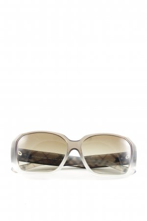 Burberry Butterfly Brille wollweiß-schwarz Karomuster Casual-Look