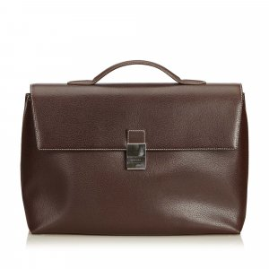 Burberry Calf Leather Briefcase