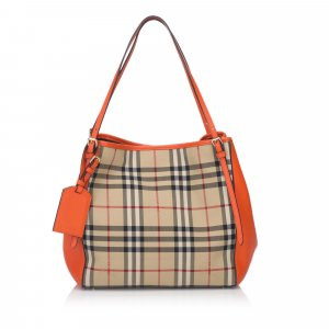 Burberry Canter Horseferry Check Jacquard Tote Bag