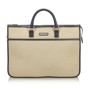 Burberry Canvas Business Bag