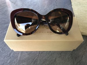 Burberry Occhiale da sole ovale bordeaux-marrone-nero Materiale sintetico