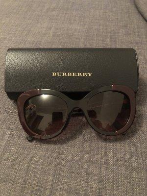 Burberry Ovale zonnebril bordeaux-zwart bruin kunststof