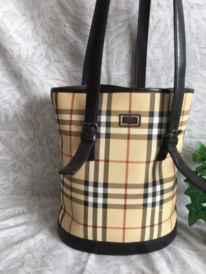 Burberry London Bolso de compra marrón grisáceo