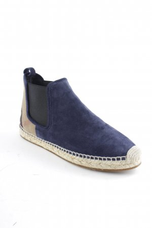 "Burberry Chelsea Boots ""Canvas Check Bainsford Flat Espadrille Chelsea Boot Navy 36"""