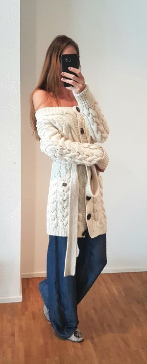 Burberry Knitted Coat natural white-cream
