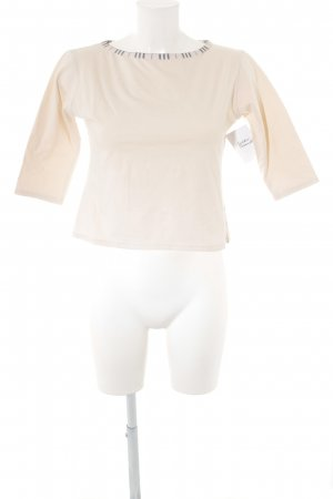 Burberry Cropped Shirt creme-dunkelblau Casual-Look