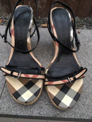 Burberry Zapatos de cuña multicolor Cuero