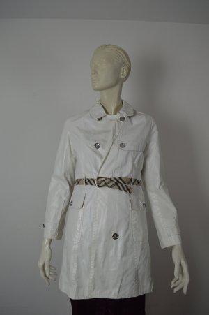 Burberry Damen Trenchcoat Mantel Gr XS 34 Weiss