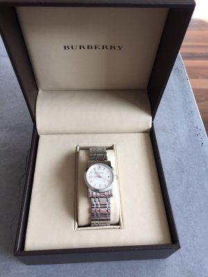 Burberry Watch With Metal Strap silver-colored metal
