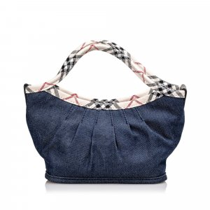 Burberry Handbag blue cotton