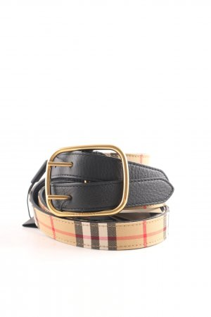 Burberry Double Belt black check pattern casual look