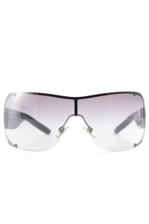 Burberry Angular Shaped Sunglasses black-silver-colored graphic pattern