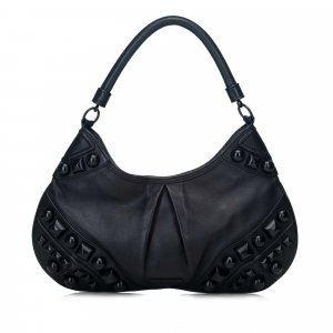 Burberry Embellished Leather Hobo Bag