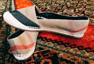 BURBERRY Espadrilles Hodgeson Check Jute Cotton