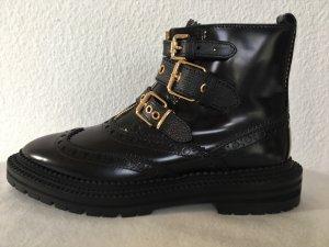 Burberry, Everdon Ankle Boots, schwarz, Leder, 40, neu, € 1.000,-