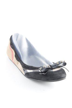 Burberry faltbare Ballerinas Vichykaromuster Casual-Look