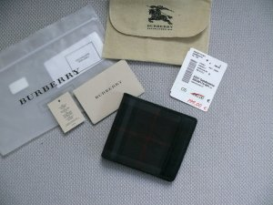 Burberry Wallet black-dark red leather