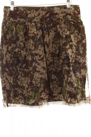 Burberry Plaid Skirt floral pattern romantic style