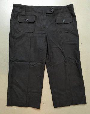 Burberry 3/4 Length Trousers dark brown-black brown mixture fibre