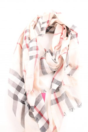 "Burberry Fringed Scarf ""Giant Gauze Scarf Check Trench"""