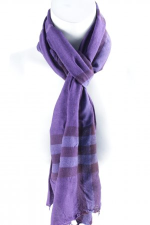 Burberry Fringed Scarf grey lilac-lilac check pattern simple style