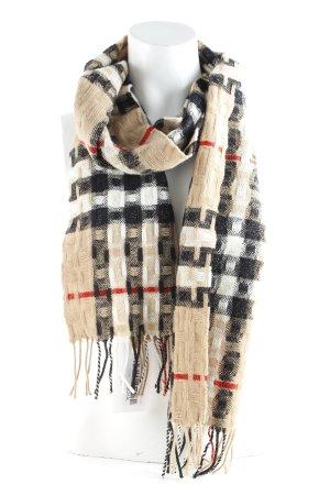 Burberry Sjaal met franjes geruite print zakelijke stijl