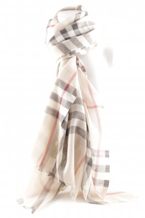 Burberry Fransenschal Karomuster Casual-Look