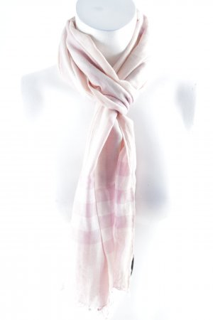 Burberry Fringed Scarf check pattern nude look
