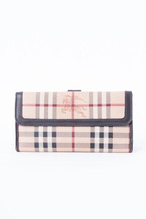 BURBERRY - Geldtasche aus Haymarket Check Gewebe mit Knopfverschluss