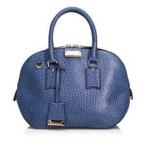 Burberry Satchel blue leather