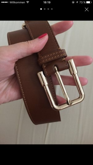 Burberry Leather Belt cognac-coloured