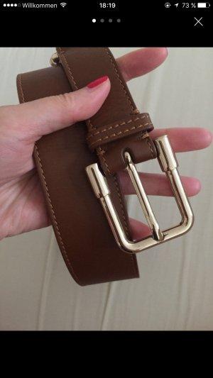 Burberry Cinturón de cuero coñac