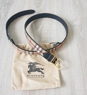 Burberry Cinturón de cadera negro-marrón arena