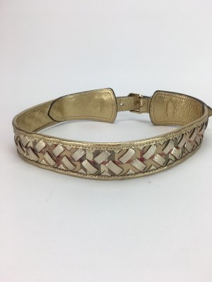 Burberry Leather Belt gold-colored