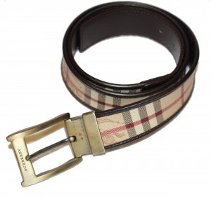 Burberry Leather Belt brown-black leather