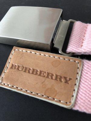 Burberry Cinturón de tela rosa-camel fibra textil
