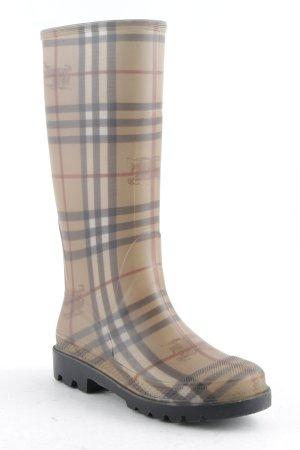 Burberry Botte en caoutchouc motif rayé style décontracté