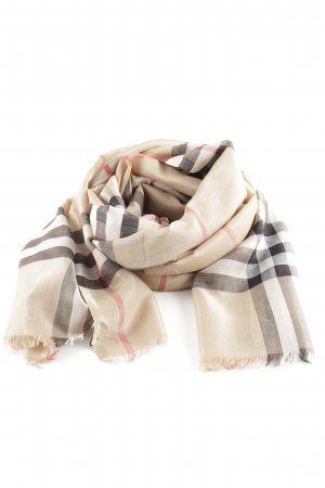 "Burberry Neckerchief ""Metallic Check Scarf Camel"""
