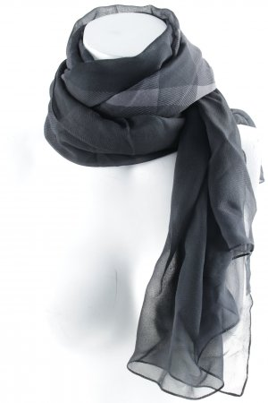 Burberry Halstuch schwarz-dunkelgrau Karomuster Casual-Look