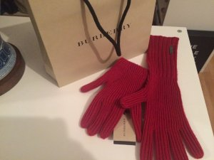 Burberry Handschuhe in wunderschönem rot