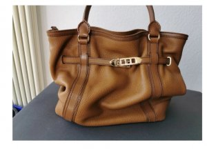 Burberry Handbag bronze-colored leather