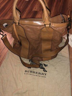 Burberry Handbag cognac-coloured-brown leather