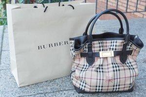 Burberry Handtasche Haymarket Check Medium Golderton Tote