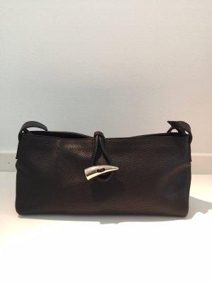 Burberry Handtasche Leder Schwarz mit Muster