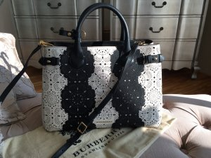 Burberry Crossbody bag white-black leather