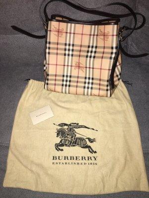 Burberry Haymarket Canterbury Tote Leder Handtasche mit Pochette