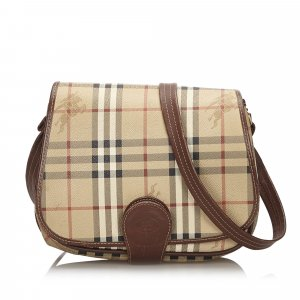 Burberry Haymarket Canvas Crossbody Bag