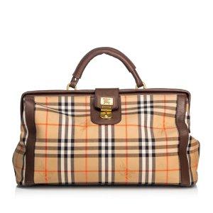 Burberry Haymarket Canvas Duffle Bag