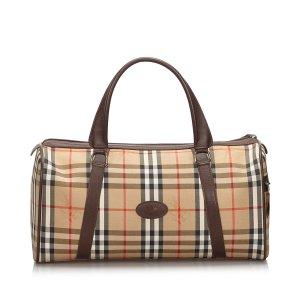 Burberry Haymarket Check Canvas Duffle Bag